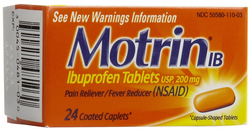 Motrin is just one example of a brand of ibuprofen medication (source)